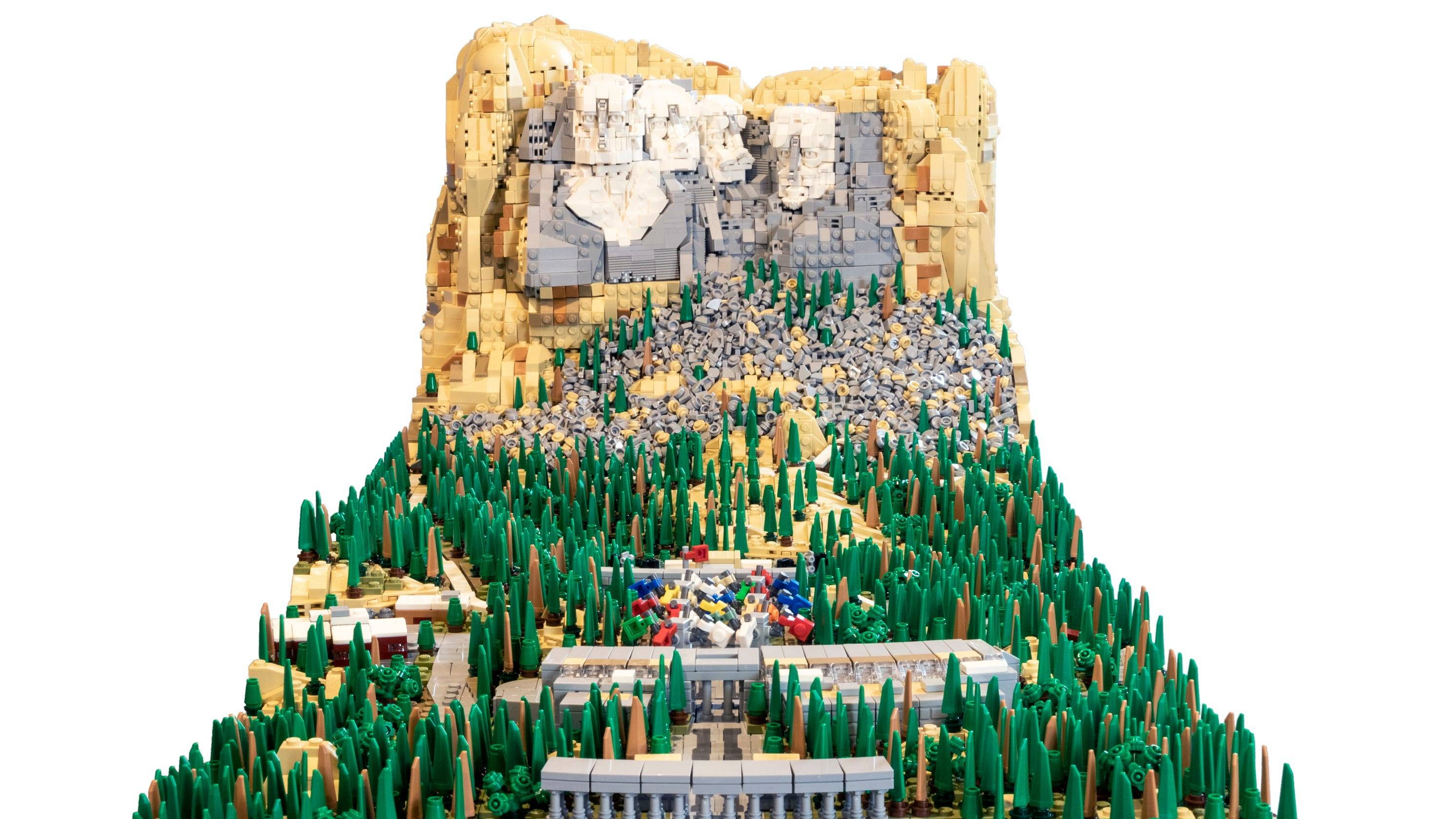 lego Mount Rushmore