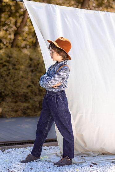 Брюки вельветовые для мальчика (цвет синий)