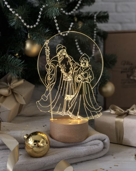 "Ночник ""Дед Мороз и Снегурочка"""