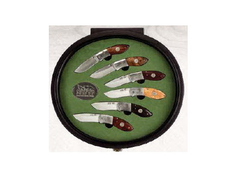 NWTF Round Display Case with Six Knives