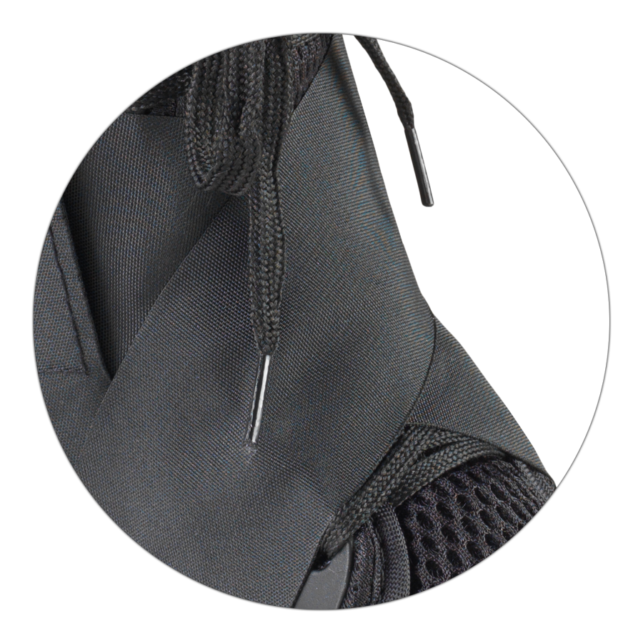 Criss-cross heel locking straps