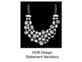 HOB Silver and Turquoise statement necklace