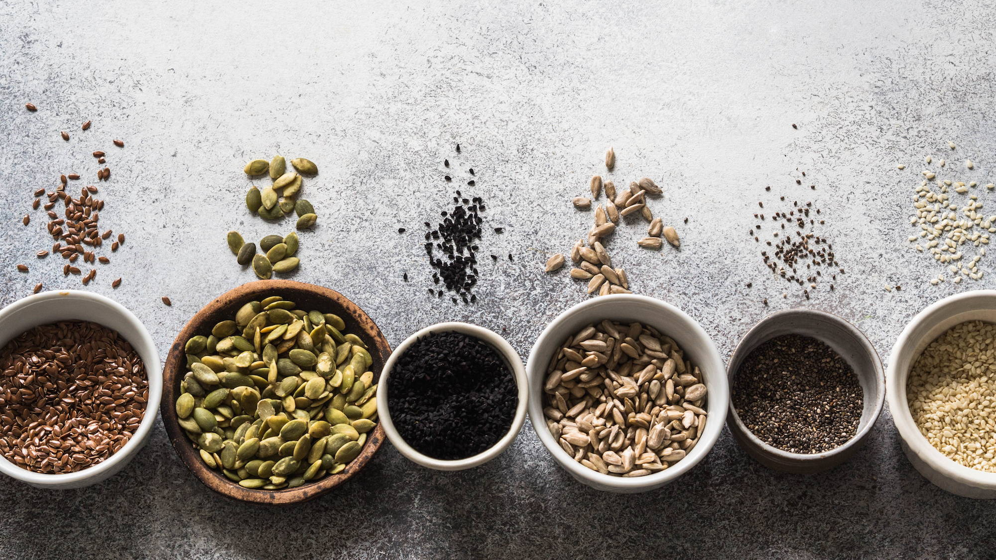 Seeds are a source of protein in the diet