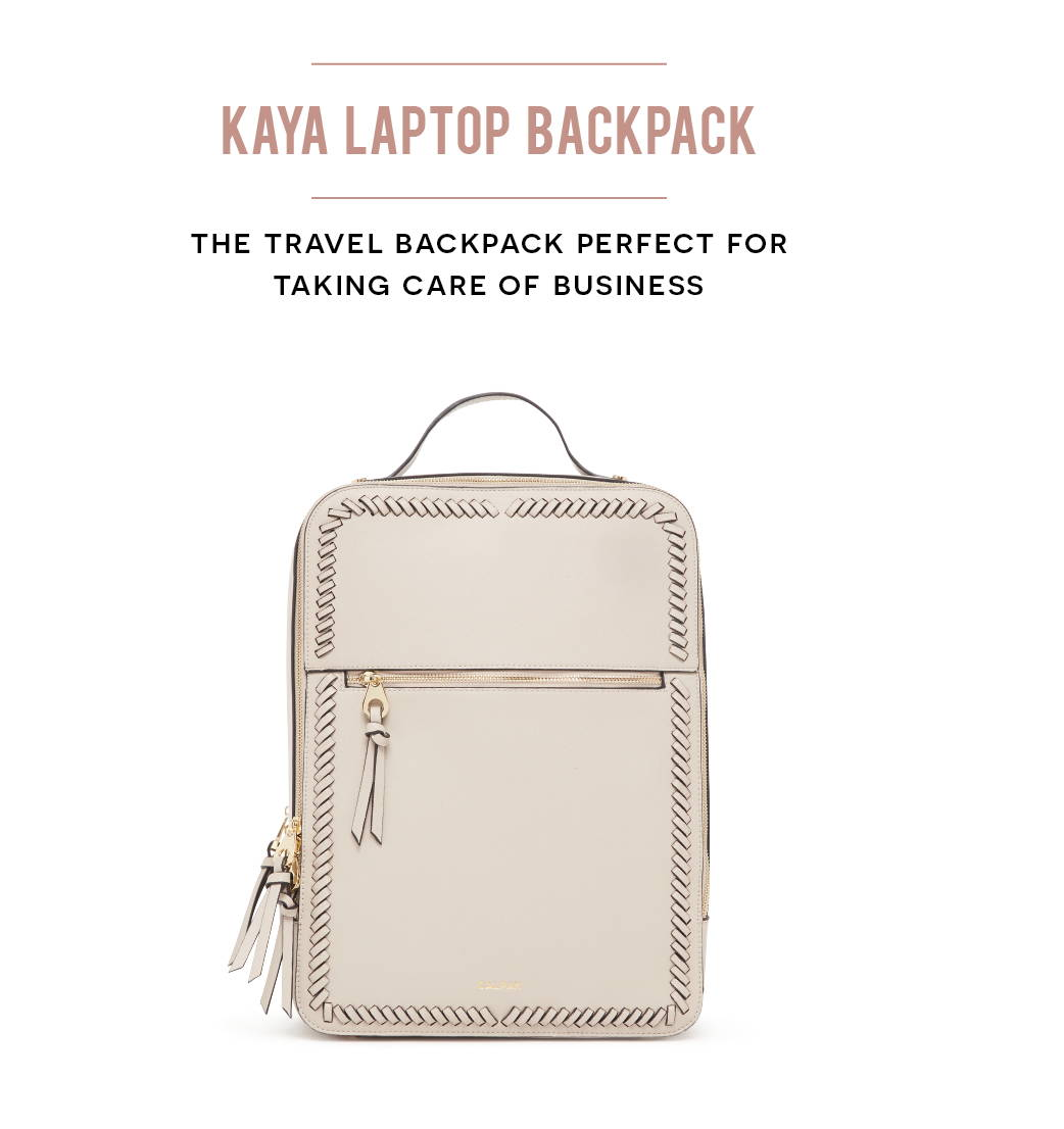 KAYA LAPTOP BACKPACK: The travel backpack perfect for taking care of business