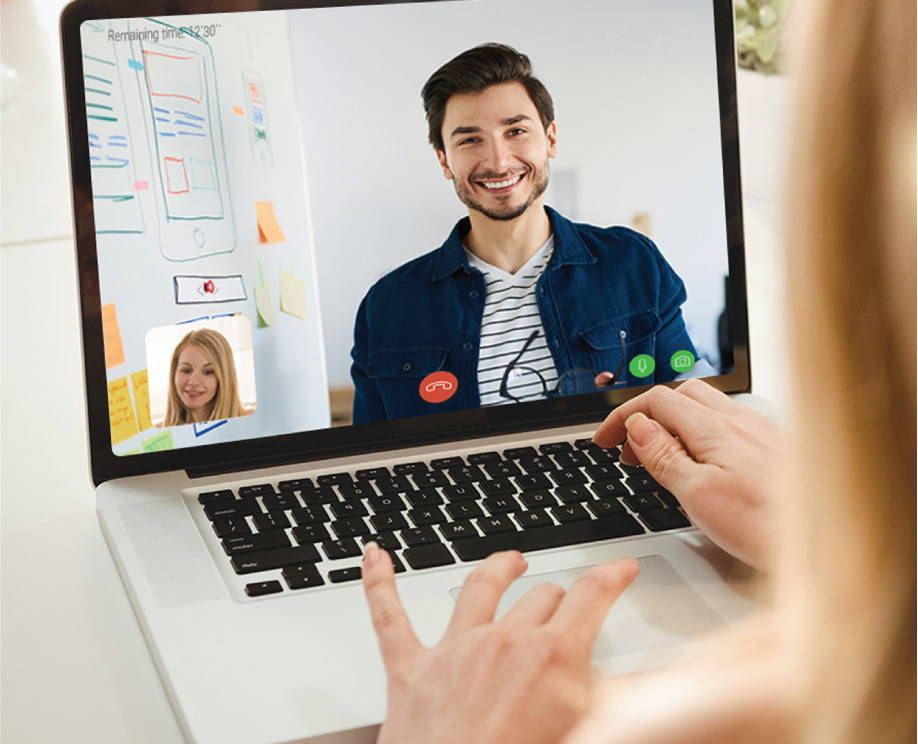 Services via video chat