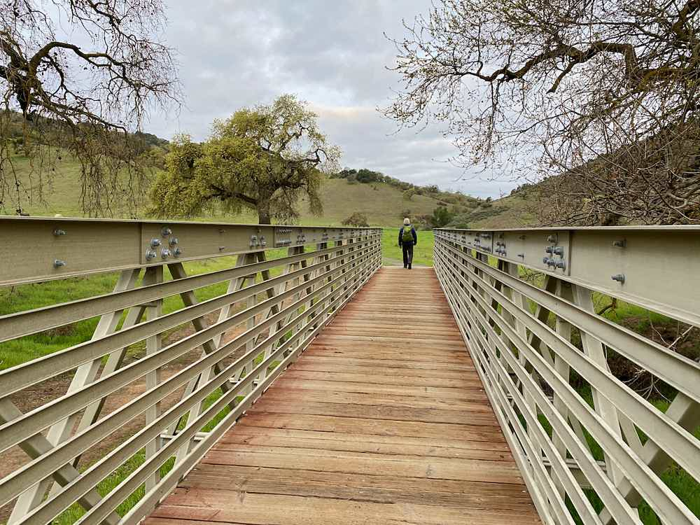 Man hiking a trail at Coyote Valley Open Space Preserve