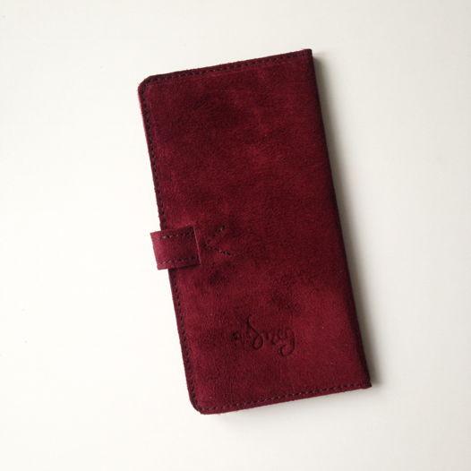 Кожаный кошелек-портмоне Cherry Suede