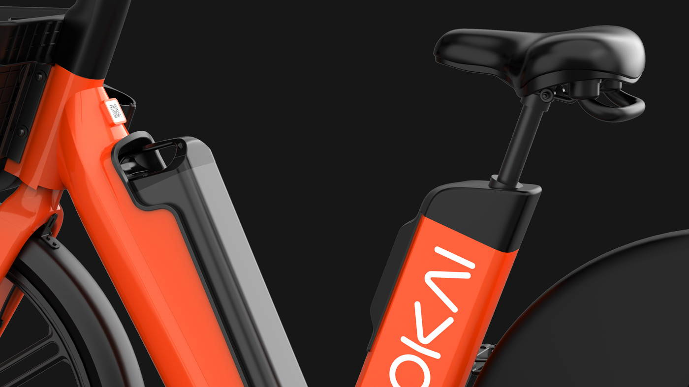 Okai Micromobility Manufacturer, EB100 Electric Bike Swappable Battery