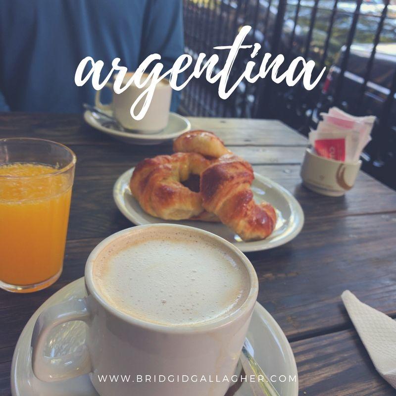 Photo of medialunas and café con leche in Mendoza, Argentina // www.bridgidgallagher.com