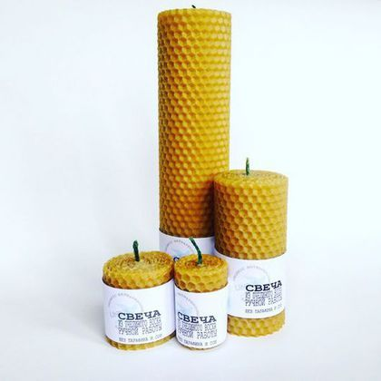 Натуральная свеча из вощины (большая)