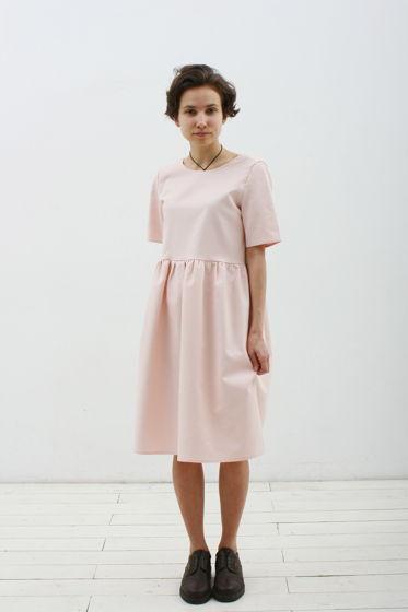Платье розове с пуговицами на спине
