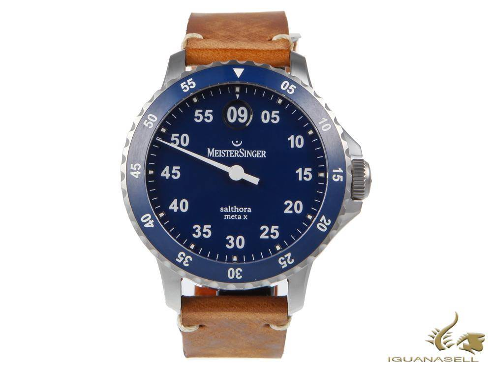 meistersinger salthora meta x automatic watch strap change