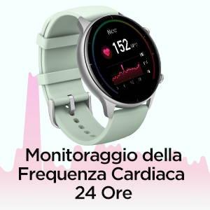 Amazfit GTR 2e - Monitoraggio della Frequenza Cardiaca 24 Ore.