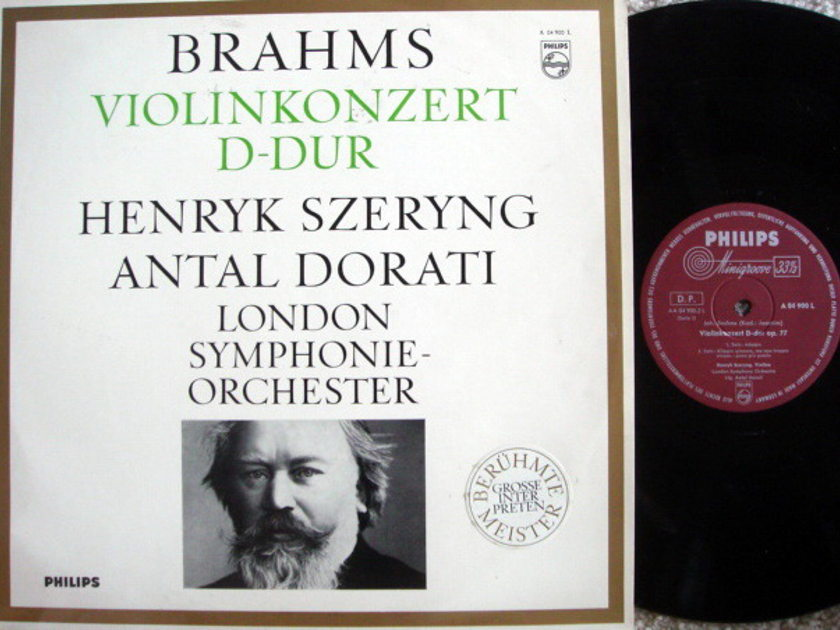 Philips / SZERYNG-DORATI, - Brahms Violin Concerto, NM!