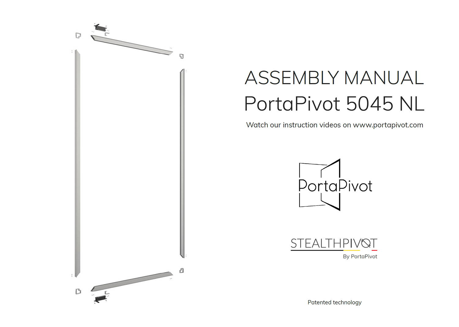 portapivot 5045 NL assembly manual