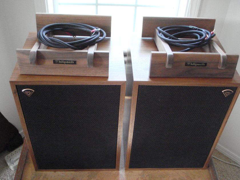 Klipsch Heresys 111'S in Walnut Heresy 111's  (2007) Beautiful Speakers With Custom Walnut Risers