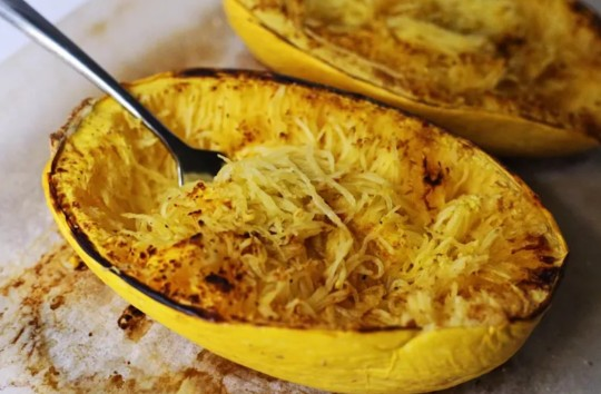 Spaghetti squash is an excellent low-carb pasta alternative