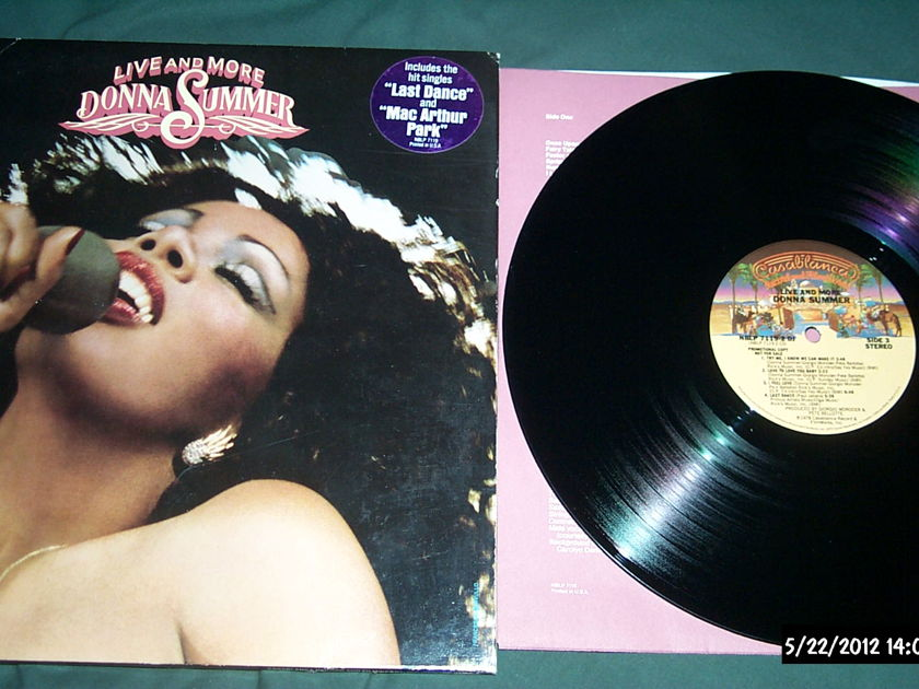 Donna Summer - Live And More 2LP Promo NM