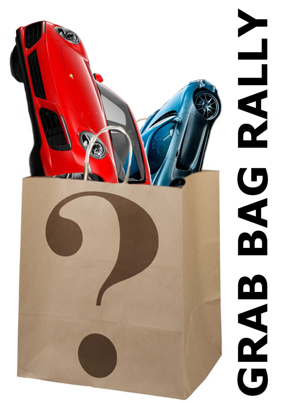 Grab Bag Rally, Image of cars in mystery bag