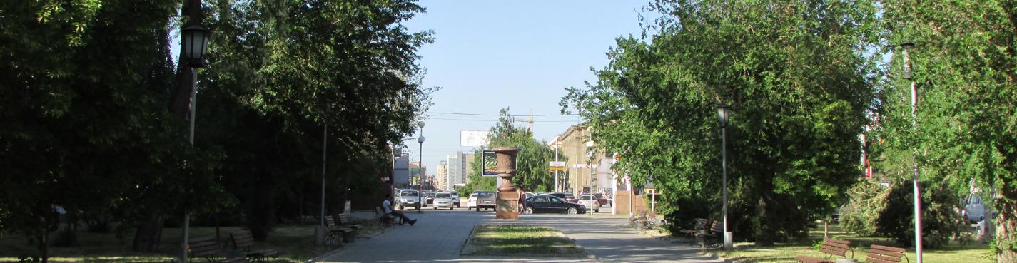 Pedestrian tour Lenins avenue