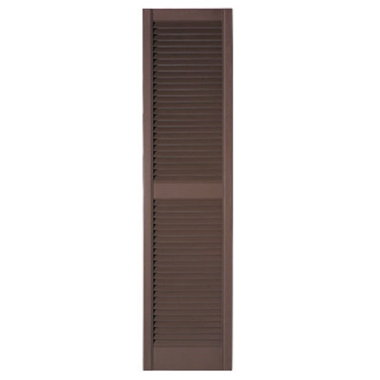 STANDARD LOUVERED SHUTTERS-BROWN