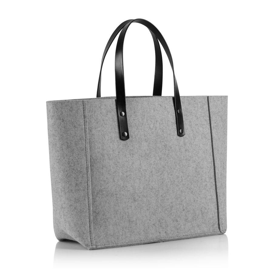Сумка-Шоппер в оттенке серый меланж.