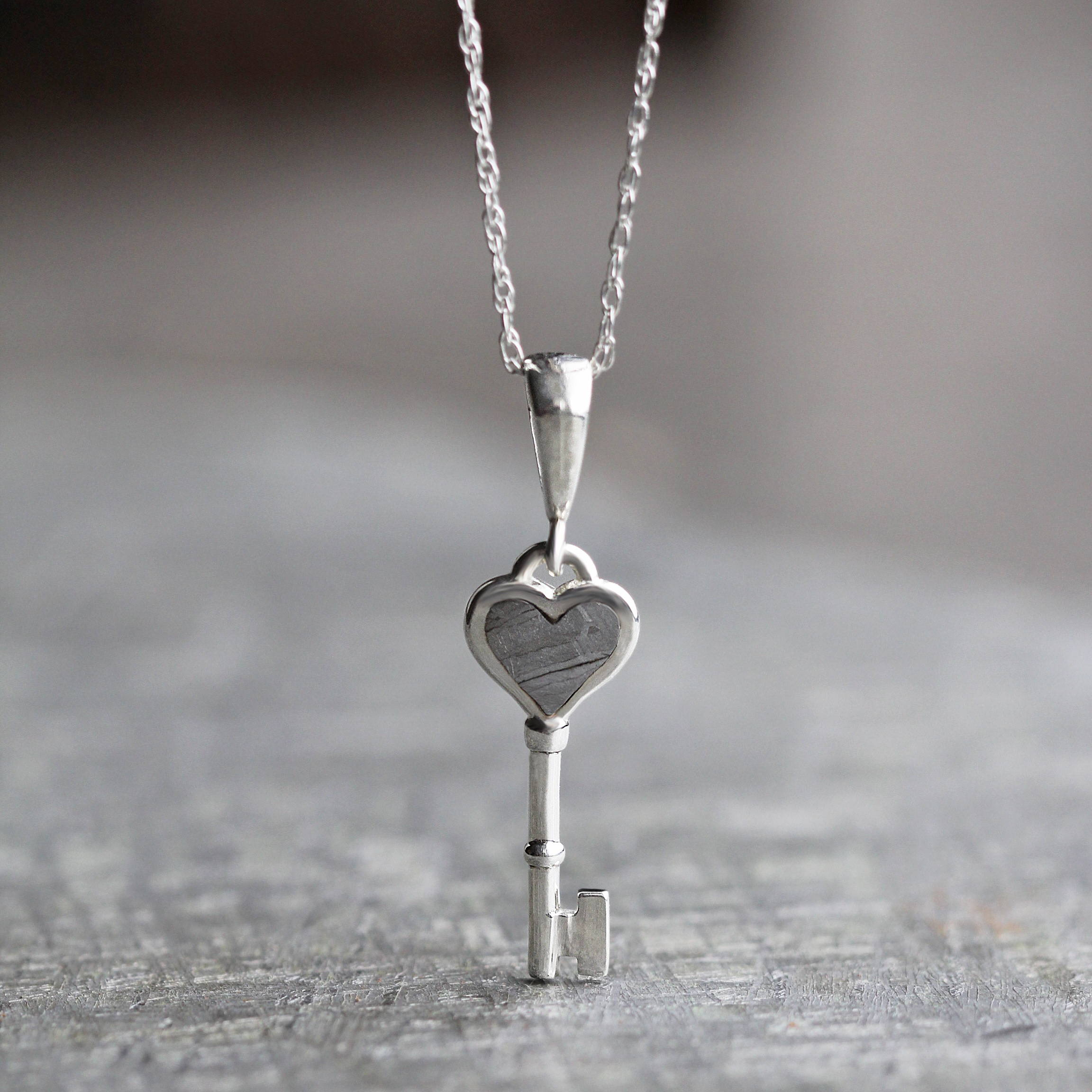 Key to My Heart Meteorite Necklace