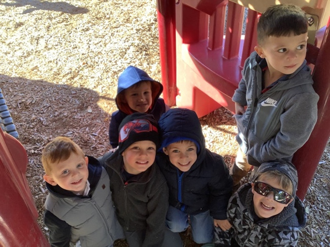 Today at our Lakewood Ranch Town Center campus, our Pre-K students were all bundled up during their outside playground time!