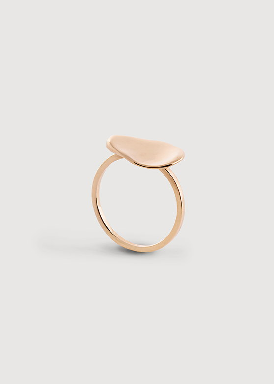 """Кольцо в форме гальки малое """"Тифлис"""". Серебро, позолота"""