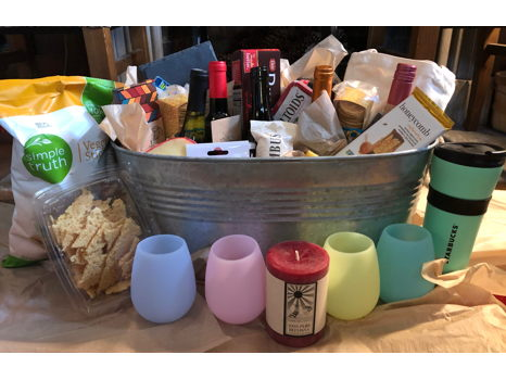 Wine, Cheese and More Basket
