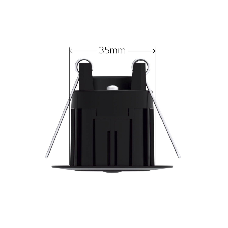 Black Faradite IP67 Motion Sensor 360 35mm dimensions