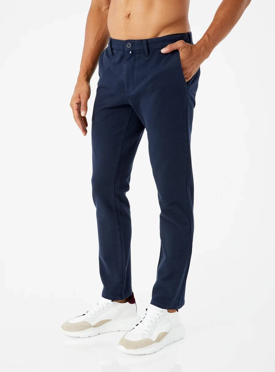 Aiden 4-Way Stretch Chino Pant in Navy