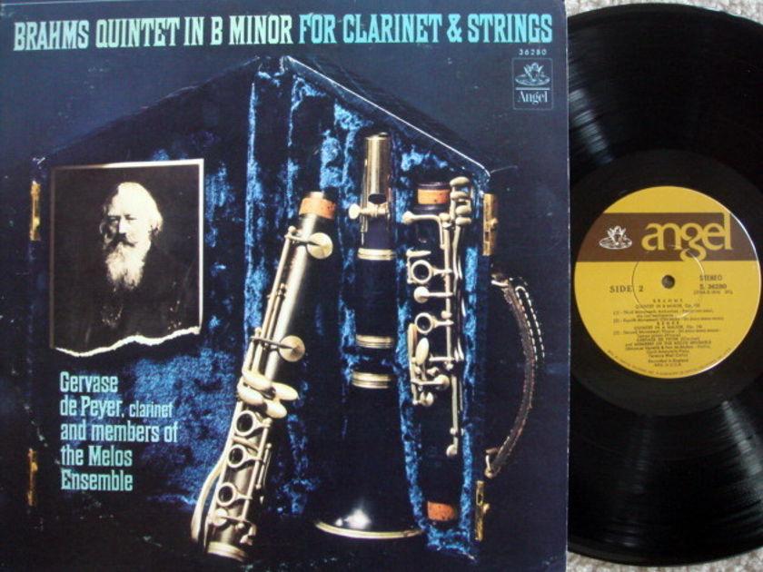 EMI Angel / MELOS ENSEMBLE, - Brahms Clarinet Quintet, MINT!