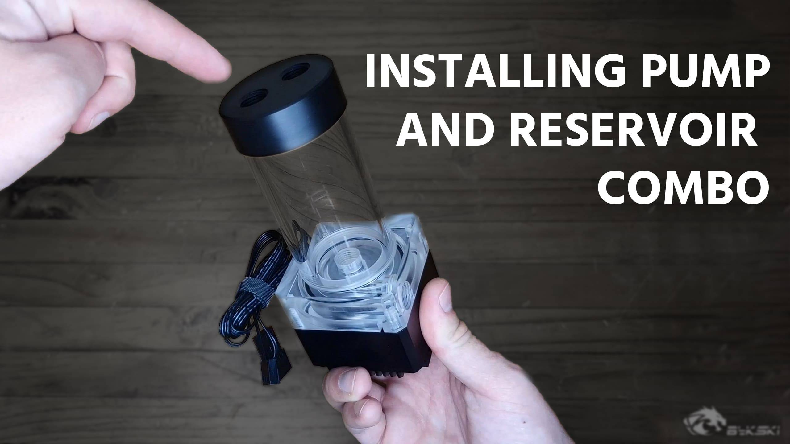 Bykski  pump and reservoir water cooling combo intallation guide