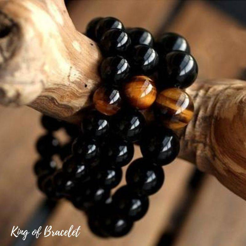 Bracelet en Perles d'Onyx - King of Bracelet