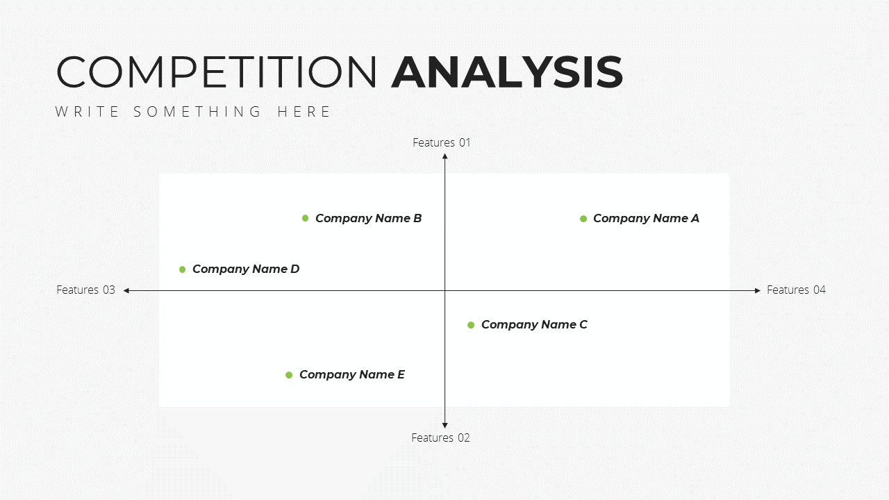 Minimal X Sales Deck Presentation Template Competition Analysis