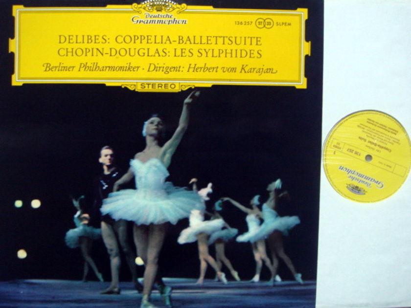DG / KARAJAN-BPO, - Delibes Coppelia, Chopin Les Sylphides,  MINT!