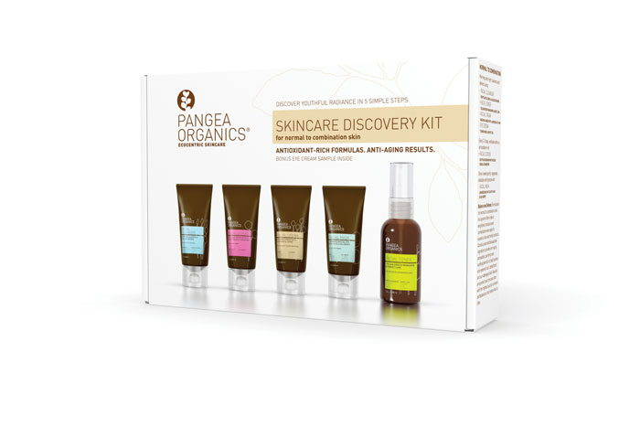 PANGEA SKINCARE DISCOVERY KIT NORMAL COMBO OUTSIDE 2011 PRINT