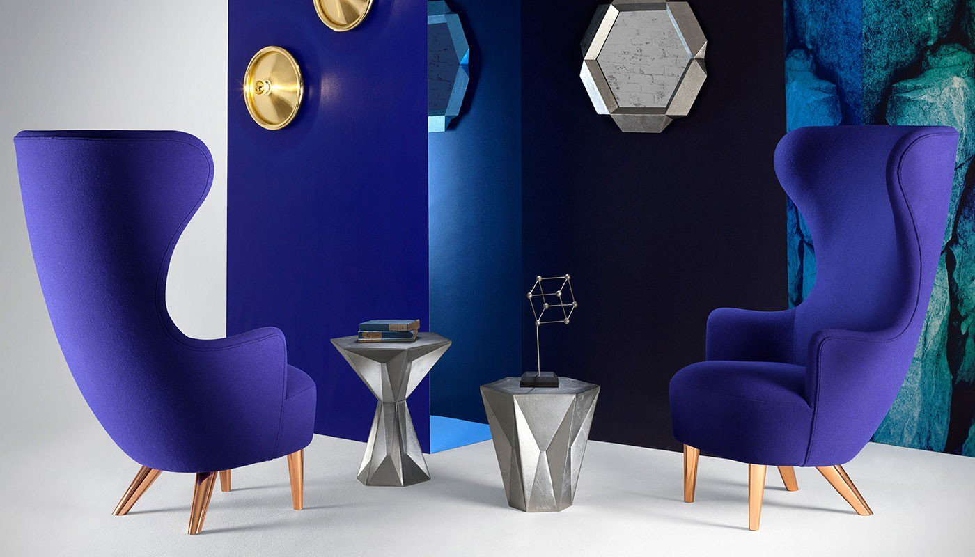 Tom Dixon Wingback in blue