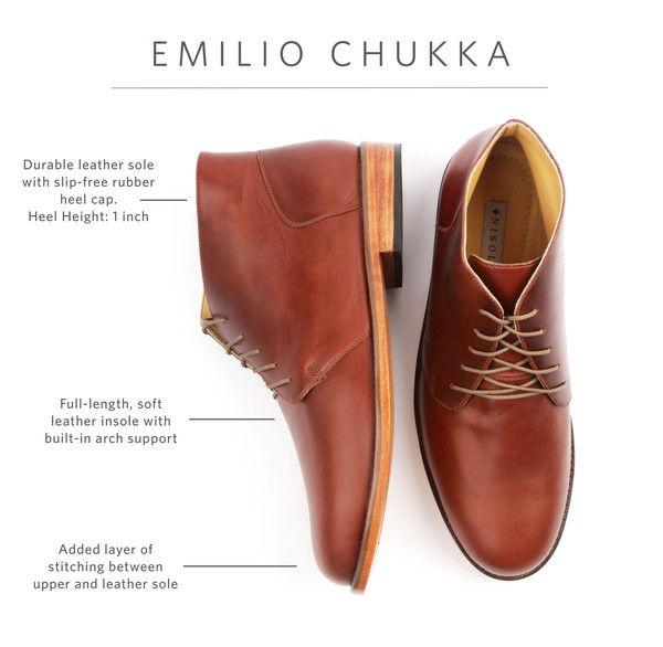 emilio chukka boot for men