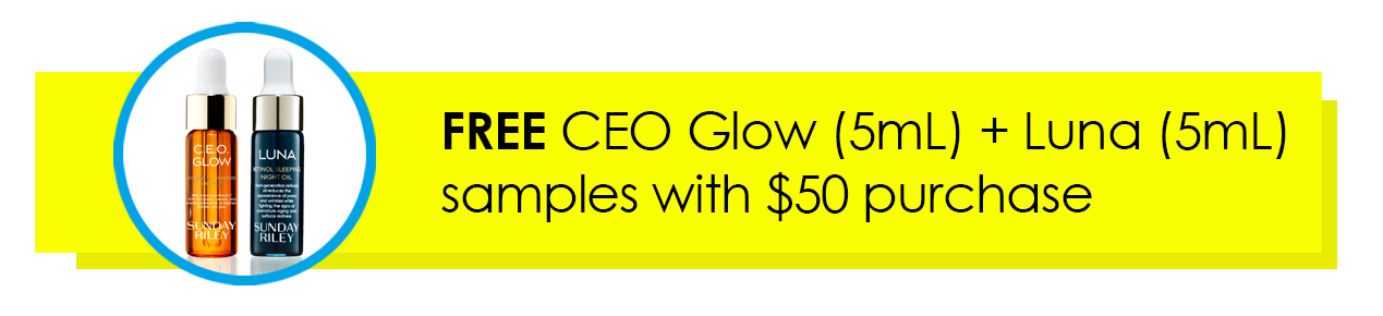 FREE CEO Glow (5mL) + Luna (5mL) samples with $50 purchase