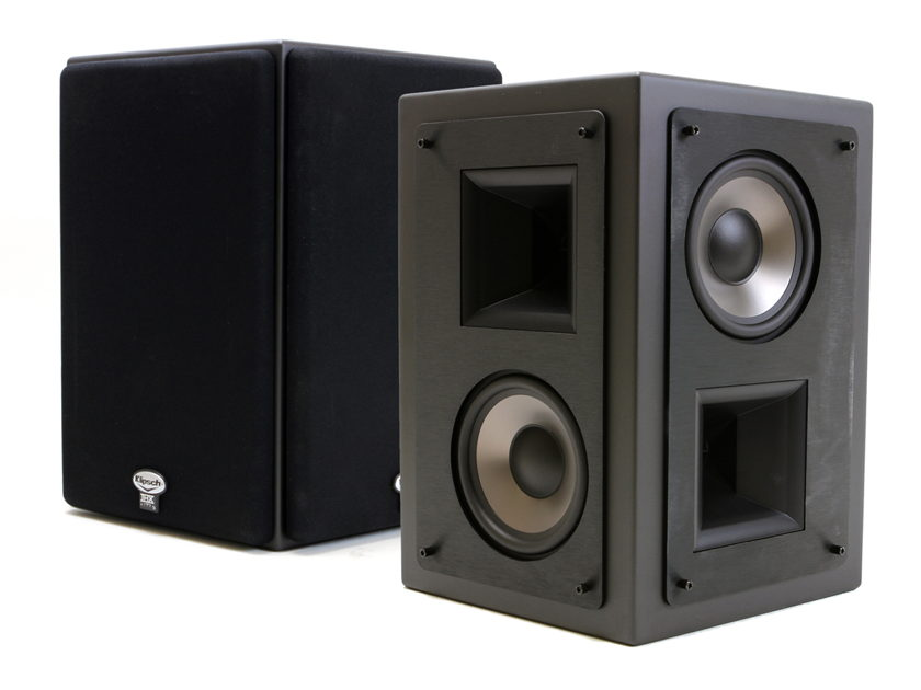 Klipsch KS-525-THX Surround Speakers (pair) Galaxy Black cabinet with Black anodized aluminum fascia
