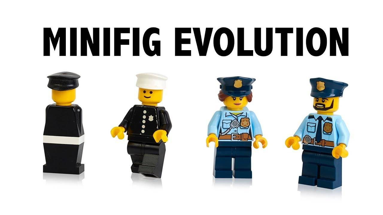 lego minifig evolution