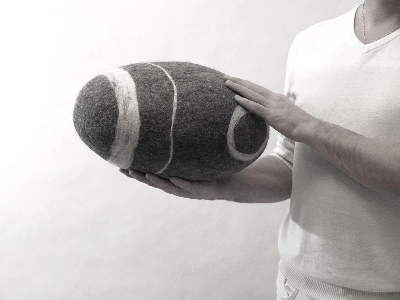 """ПОДУШКА-КАМЕНЬ. Модель """"Морская галька""""(35см)"""