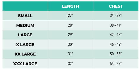 Pet It Forward Basic Tee Sizing Chart