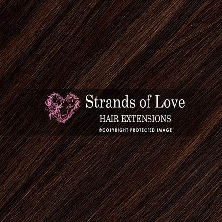Strands Of Love Hair Extensions Colour Soft Black Dark Choc Highlight