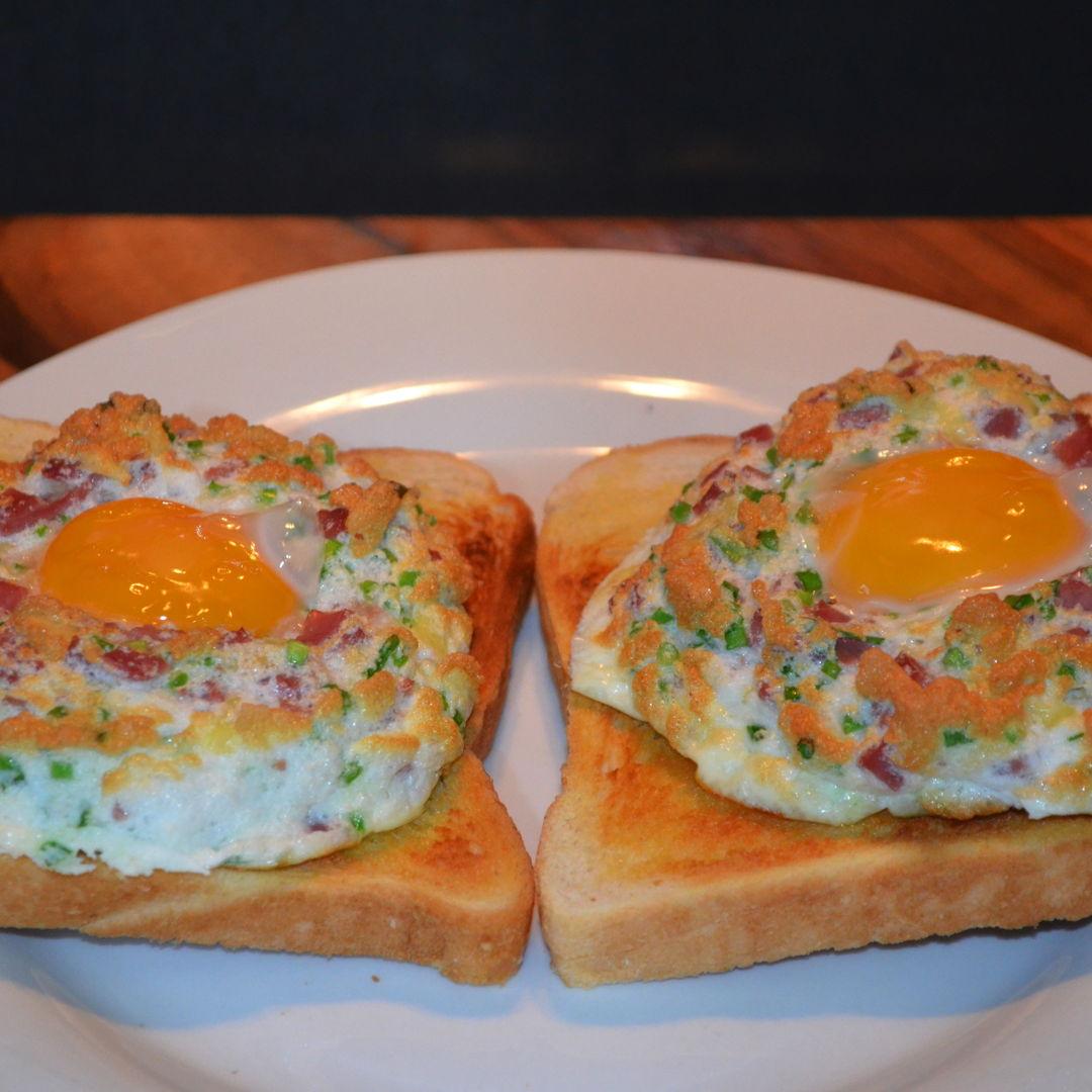 Date: 15 May 2020 (Fri) 10th Breakfast: Eggs in Clouds [351] [162.7%] [Score: 10.0] Cuisine: Western Dish Type: Breakfast