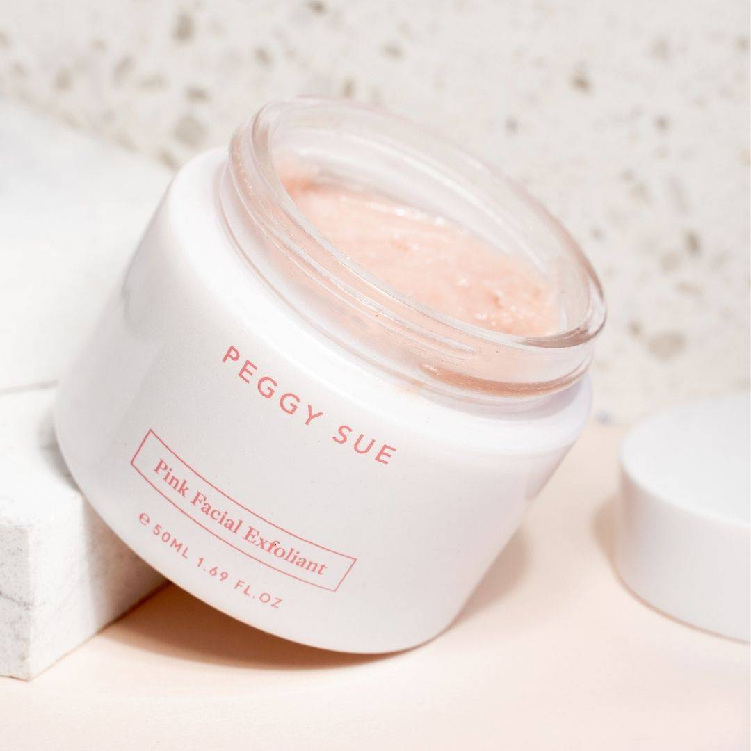 Product shot of Pink Facial Exfoliant