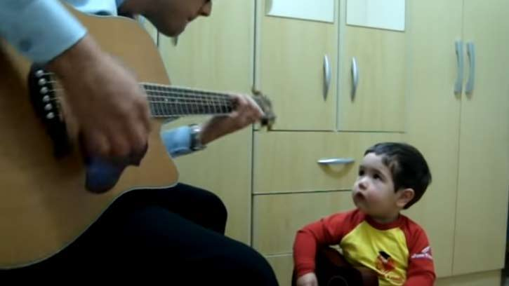 This is what happends when father and son sing a classic Beatles song together