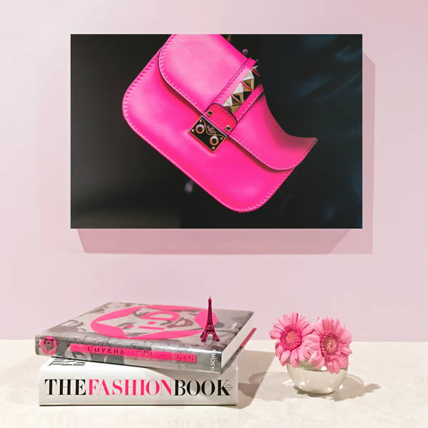 Recoveted Fashion Wall Art - Fuchsia Fashionista